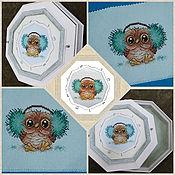 Картины и панно handmade. Livemaster - original item Children`s: Cross stitch Fluffy joy. Handmade.
