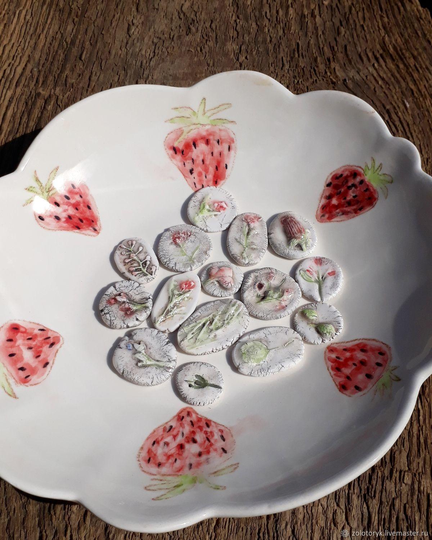 Porcelain cabochon, 2-3cm, Cabochons, Bobrov,  Фото №1