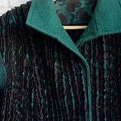 """Одежда ручной работы. Ярмарка Мастеров - ручная работа Женская куртка """"Темный малахит"""". Handmade."""