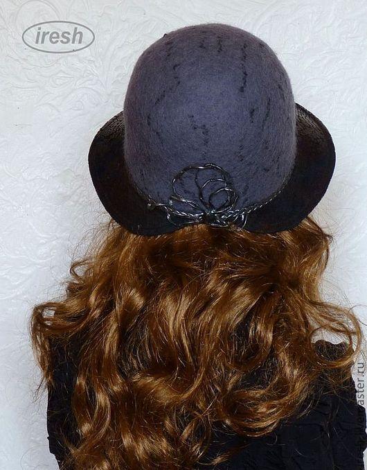 """Шляпы ручной работы. Ярмарка Мастеров - ручная работа. Купить Шляпа """"Комфортная"""" валяная серо-чёрная. Handmade. Серый, повседневная"""