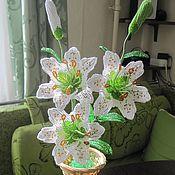 Цветы и флористика ручной работы. Ярмарка Мастеров - ручная работа Белая лилия. Handmade.