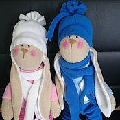Куклы и игрушки ручной работы. Ярмарка Мастеров - ручная работа зайцы дружные. Handmade.