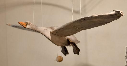 Игрушки животные, ручной работы. Ярмарка Мастеров - ручная работа. Купить Летающий Лебедь Игрушка-подвес (37 см, 56 см, 100 см). Handmade.