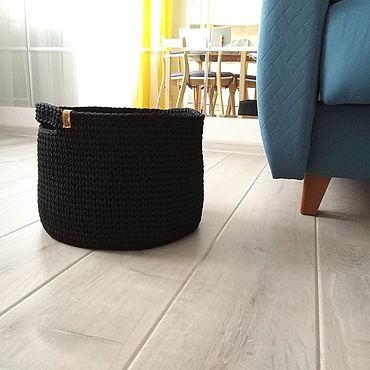 Для дома и интерьера ручной работы. Ярмарка Мастеров - ручная работа Корзины:  вязаная корзина для хранения, размер S. Handmade.