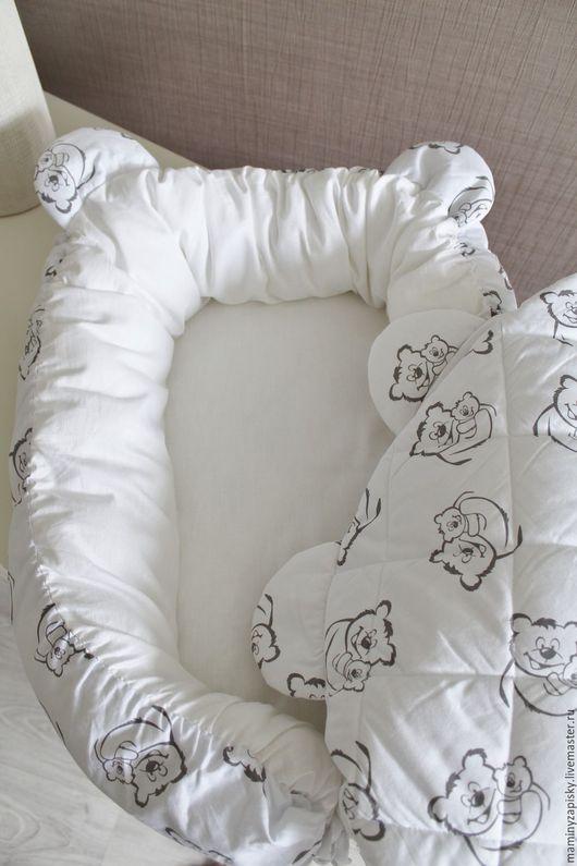 Для новорожденных, ручной работы. Ярмарка Мастеров - ручная работа. Купить кокон babynest+одеяльце с ушками. Handmade. Babynest, малышам, коконы