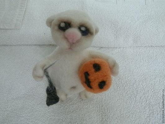 Игрушки животные, ручной работы. Ярмарка Мастеров - ручная работа. Купить Хэллоуинский кот-зомби НАШЕЛ ДОМ. Handmade. Бежевый