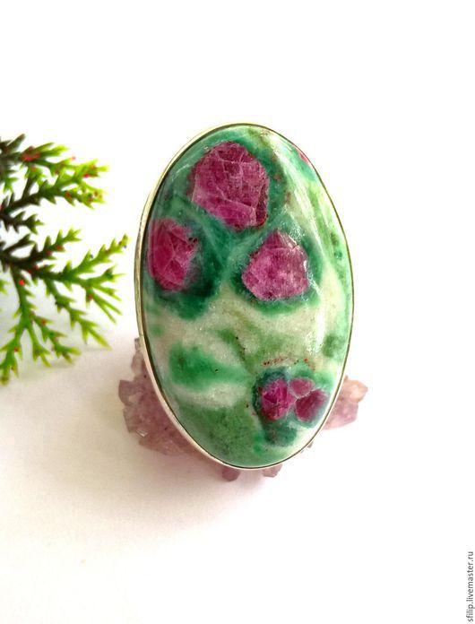 """Кольца ручной работы. Ярмарка Мастеров - ручная работа. Купить Кольцо""""Розы"""" - Рубин-цоизит,серебро 925. Handmade. Зеленый"""