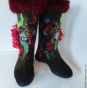 """Обувь ручной работы. Ярмарка Мастеров - ручная работа Валенки """"Аленький цветочек"""". Handmade."""