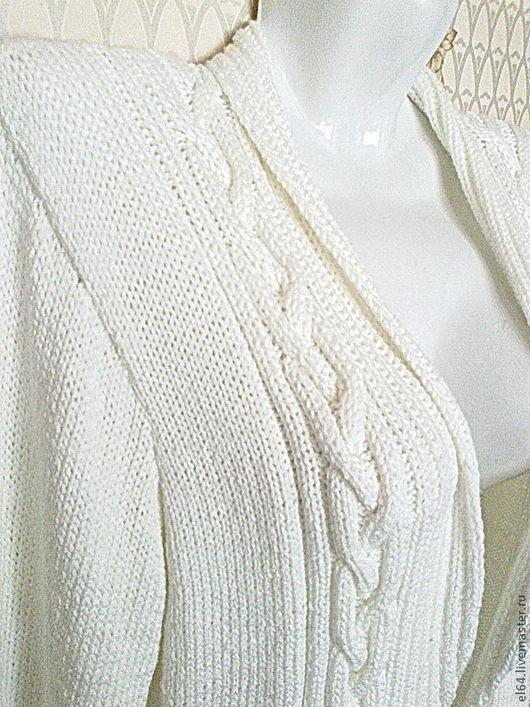 """Пиджаки, жакеты ручной работы. Ярмарка Мастеров - ручная работа. Купить Жакет """"Строгость"""". Handmade. Белый, жакет женский"""