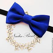 Аксессуары handmade. Livemaster - original item Tie Blue Satin. Handmade.
