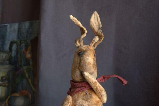 Мишки Тедди ручной работы. Ярмарка Мастеров - ручная работа. Купить Большой Плюшевый Заяц. Handmade. Желтый, плюш