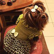 Для домашних животных, ручной работы. Ярмарка Мастеров - ручная работа Платье зеленое. Handmade.