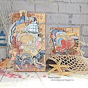 """Открытки ручной работы. Ярмарка Мастеров - ручная работа Набор открыток """"Море"""". Handmade."""