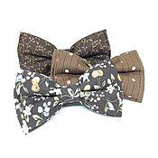 Подарок новорожденному ручной работы. Ярмарка Мастеров - ручная работа Коричневые галстук-бабочки. Handmade.