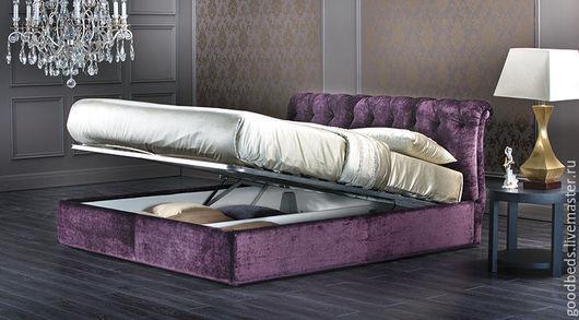 Мебель ручной работы. Ярмарка Мастеров - ручная работа. Купить Кровать Флоренция. Handmade. Тёмно-фиолетовый, копия, ручная работа