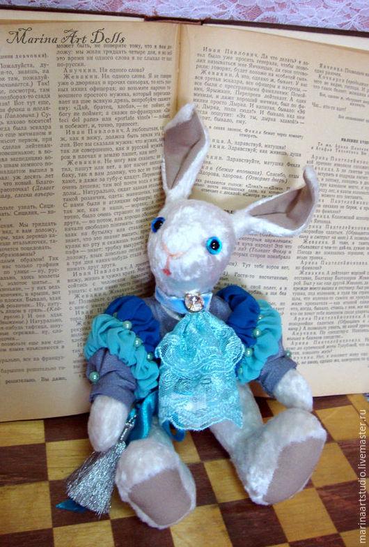 Мишки Тедди ручной работы. Ярмарка Мастеров - ручная работа. Купить Кролик Луи. Handmade. Белый, кролик ручной работы