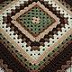Текстиль, ковры ручной работы. Плед. Домовенок. Ярмарка Мастеров. Оливковый, карамель