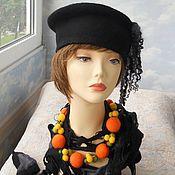 """Аксессуары handmade. Livemaster - original item wool set """" The golden orange"""". Handmade."""