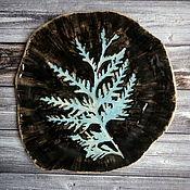 Тарелки ручной работы. Ярмарка Мастеров - ручная работа Тарелка черная керамическая. Handmade.