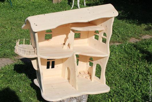 Кукольный дом ручной работы. Ярмарка Мастеров - ручная работа. Купить деревянный кукольный домик. Handmade. Кукольный домик