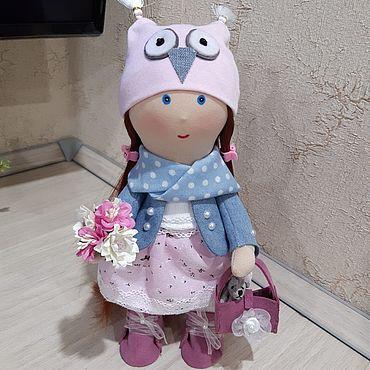 Куклы и игрушки ручной работы. Ярмарка Мастеров - ручная работа Тильды: Совушка -рыжуня с сумочкой. Handmade.