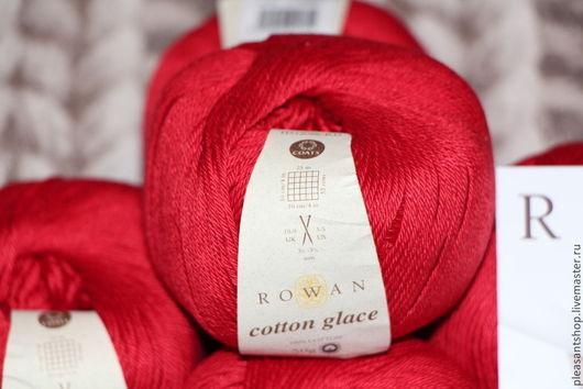 Вязание ручной работы. Ярмарка Мастеров - ручная работа. Купить Rowan Cotton Glace Poppy. Handmade. Ярко-красный