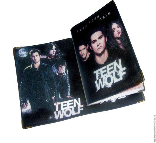 """Обложки ручной работы. Ярмарка Мастеров - ручная работа. Купить Обложка на паспорт, обложка для документов """"Teen Wolf"""". Handmade. Черный"""