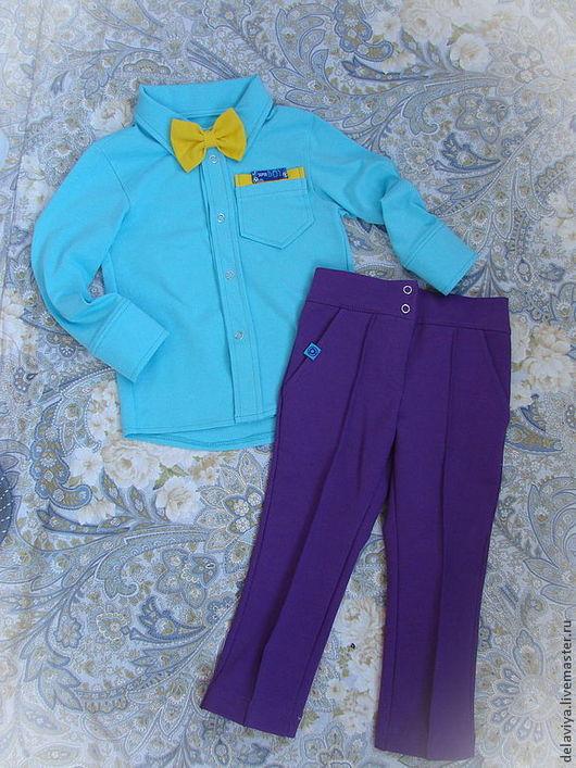 """Одежда для мальчиков, ручной работы. Ярмарка Мастеров - ручная работа. Купить Комплект """"Стиляга""""-2 от Делавьи. Handmade. Мятный"""