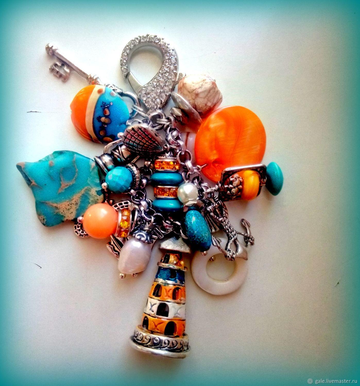 Брелок украшение на сумку Андаманское море