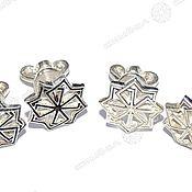 Русский стиль handmade. Livemaster - original item Earrings Solvency (Pusey). Handmade.