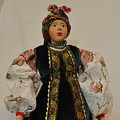 Куклы и игрушки handmade. Livemaster - original item Doll in the costume of the Kiev province of the 19th century. Handmade.