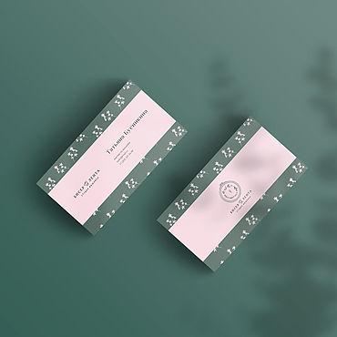 """Дизайн и реклама ручной работы. Ярмарка Мастеров - ручная работа Визитка с логотипом """"Бисер и лента"""". Handmade."""