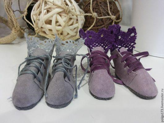 Одежда для кукол ручной работы. Ярмарка Мастеров - ручная работа. Купить Ботиночки с кружевом для Тильды. Handmade. Одежда для кукол