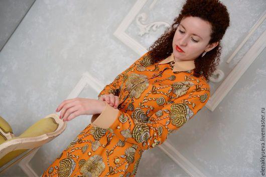 Платье-рубашка Хлопок Gucci Дизайнер Елена Клюева