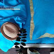 """Для дома и интерьера handmade. Livemaster - original item Copy of Copy of Linen bed linen """"bleck"""" (100% linen). Handmade."""