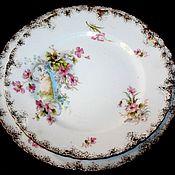 Винтаж handmade. Livemaster - original item Two beautiful plates with delicate flowers in pastel colors. Handmade.