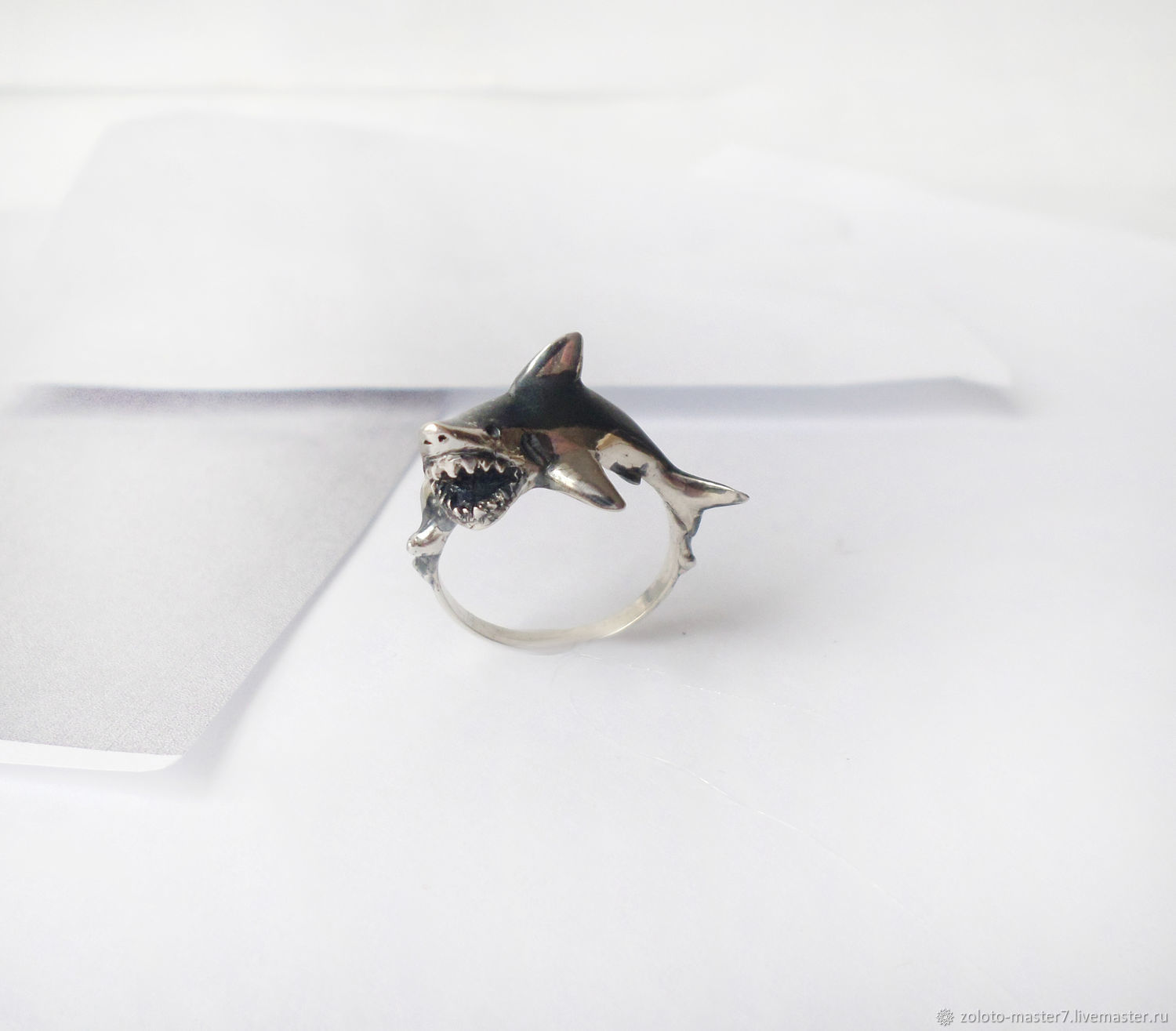 Silver ring 'the Shark', Rings, Chaikovsky,  Фото №1