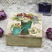 Для дома и интерьера handmade. Livemaster - original item Box pink provence solid wood cream. Handmade.
