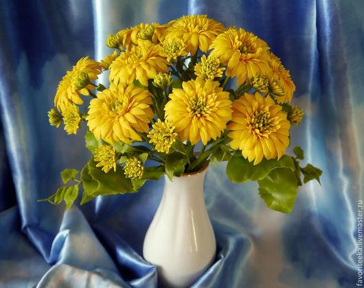 """Букеты ручной работы. Ярмарка Мастеров - ручная работа. Купить Композиция """"Золотые шары"""". Handmade. Желтый, букет в подарок, Декор"""