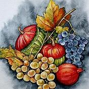 """Картины и панно ручной работы. Ярмарка Мастеров - ручная работа Рисунок """"Натюрморт с виноградом"""". Handmade."""