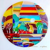 Для дома и интерьера ручной работы. Ярмарка Мастеров - ручная работа витраж из стекла, фьюзинг  Поймай солнце. Handmade.