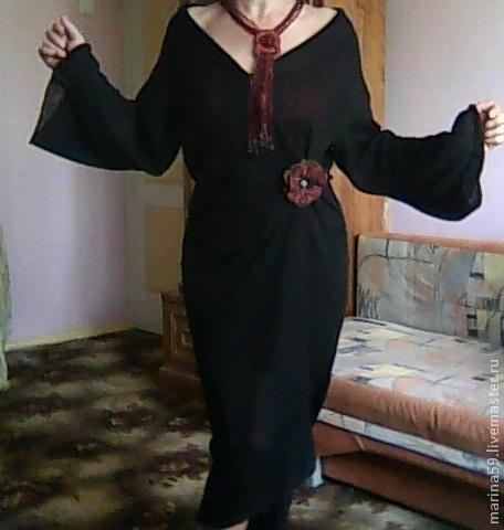 """Верхняя одежда ручной работы. Ярмарка Мастеров - ручная работа. Купить Мохеровый халат - трансформер """" Покровы летней ночи"""" """". Handmade."""