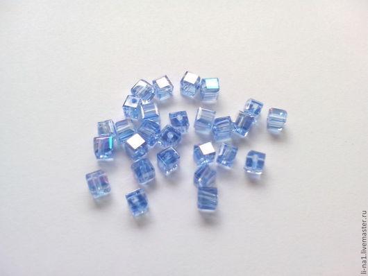 Для украшений ручной работы. Ярмарка Мастеров - ручная работа. Купить Бусина куб голубой, 3 мм (10шт). Handmade.