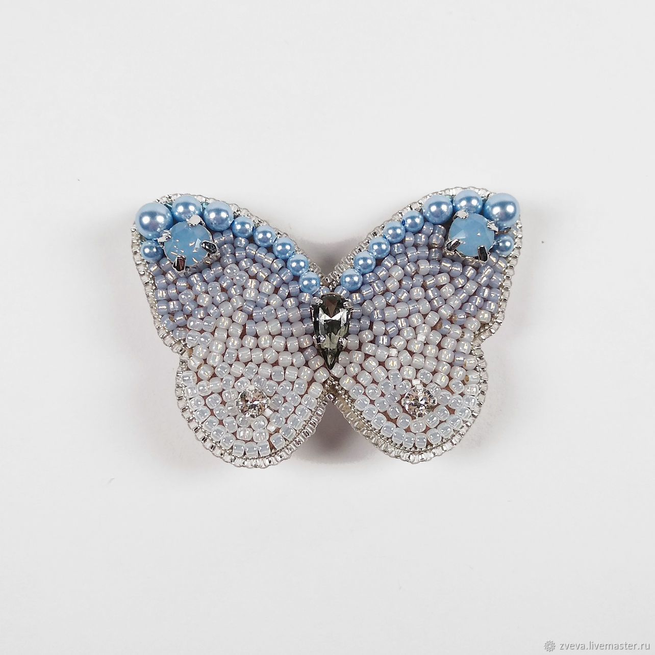 Blue azure butterfly brooch with gradient effect, Ombre, Brooches, Smolensk,  Фото №1