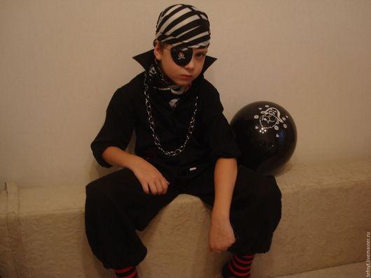 Детские карнавальные костюмы ручной работы. Ярмарка Мастеров - ручная работа. Купить Костюм   на Хэлоуин. Handmade. Черный, лён