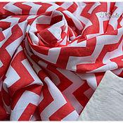 Для дома и интерьера ручной работы. Ярмарка Мастеров - ручная работа Плед летний для новорожденных, летнее легкое одеяльце зигзаги красный. Handmade.