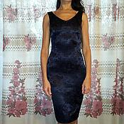 Одежда ручной работы. Ярмарка Мастеров - ручная работа 252: повседневное платье футляр  из жаккарда, готовое платье футляр. Handmade.