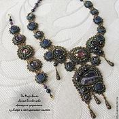 """Украшения ручной работы. Ярмарка Мастеров - ручная работа Комплект """"Lilac Shadow"""". Handmade."""