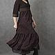 Платья ручной работы. Vacanze Romane-1110. deRvoed Lena. Ярмарка Мастеров. Дизайнерская одежда, коричневый
