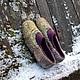 Обувь ручной работы. Ярмарка Мастеров - ручная работа. Купить Тапочки -Лесной ручей. Handmade. Тапочки ручной работы, пряжа